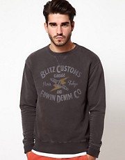 Edwin Blitz Collab Crew Sweatshirt College