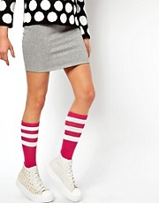 American Apparel Stripe Calf Socks