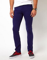 Vans Jeans V76 Skinny Fit Blue Overdye