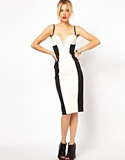 Vestido palabra de honor colour block de ASOS