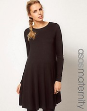 ASOS Maternity Swing Dress With Long Sleeves