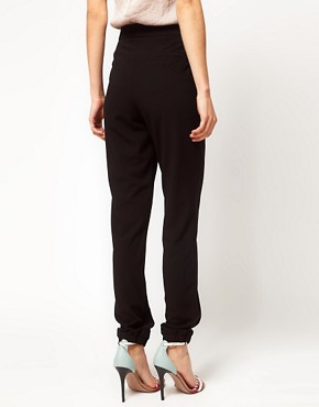 Image 2 ofASOS Crepe Trousers with Elastic Cuff