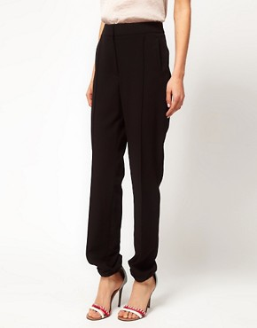 Image 4 ofASOS Crepe Trousers with Elastic Cuff
