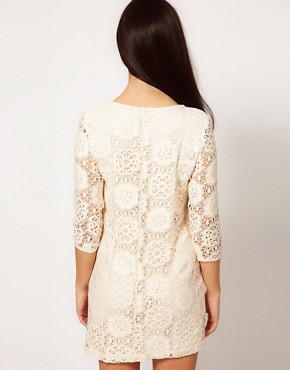 Image 2 ofRiver Island Chelsea Girl Lace Shift With 3/4 Sleeve