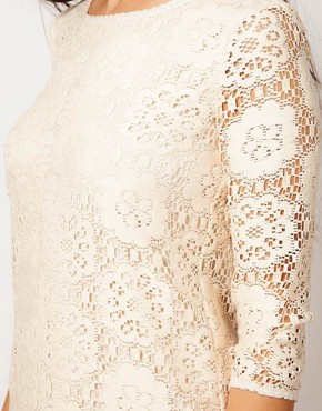 Image 3 ofRiver Island Chelsea Girl Lace Shift With 3/4 Sleeve