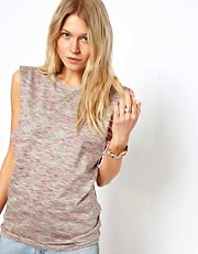 ASOS Tank in Multi Coloured Metallic Fabric
