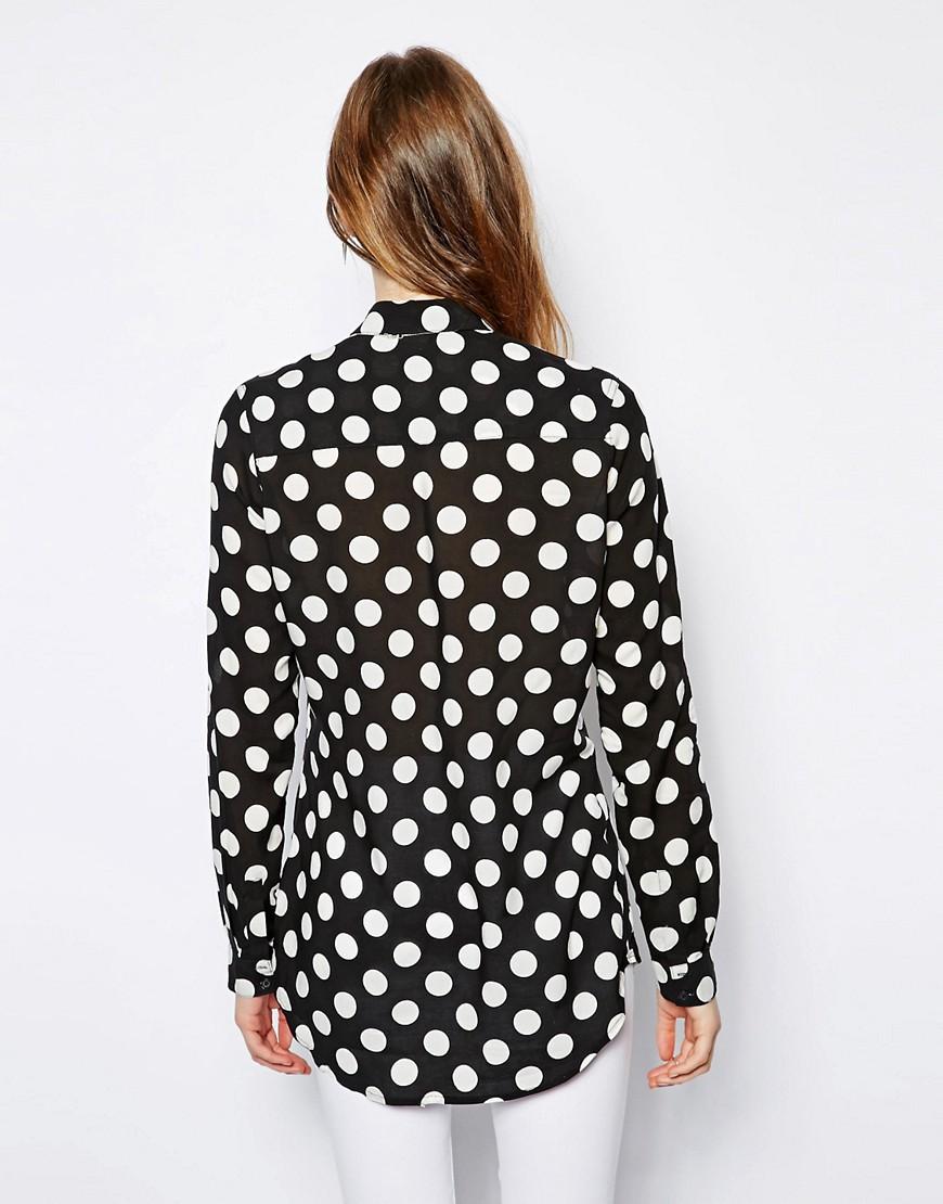 Image 2 ofNew Look Tall Burnt Spot Shirt