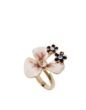 Image 1 ofTalullah Tu Orchid Enamel Crystal Ring