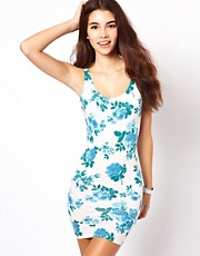 American Apparel Floral Vest Dress
