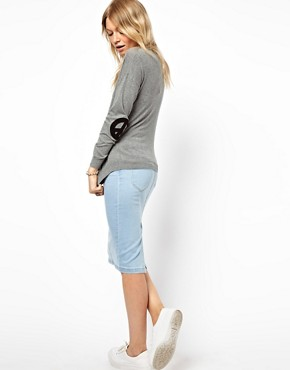 Image 4 ofASOS Jumper With Peace Sign Elbow Patches