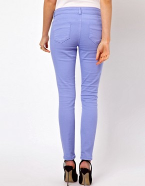 Image 2 ofASOS PETITE Exclusive Skinny Jeans In Purple