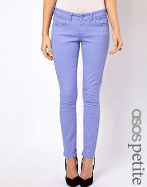 Image 1 ofASOS PETITE Exclusive Skinny Jeans In Purple
