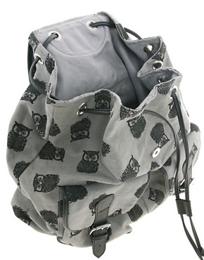 Image 2 ofASOS Owl Print Backpack