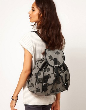 Image 3 ofASOS Owl Print Backpack
