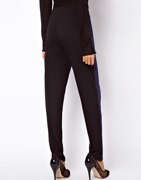 Image 2 ofASOS Peg Trouser in Colourblock