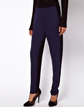 Image 4 ofASOS Peg Trouser in Colourblock