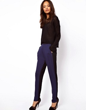 Image 1 ofASOS Peg Trouser in Colourblock