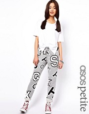 ASOS PETITE Exclusive Oversized Sweatpants In Alphabet Print