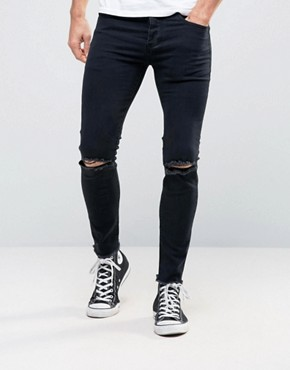 Sixth June Skinny Jeans With Ripped Knees