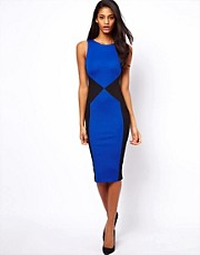ASOS Pencil Dress With Ponte Panels