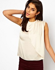 ASOS Top With Asymmetric Drape Front
