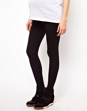 Image 4 ofASOS Maternity Full Length Soft Touch Leggings