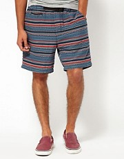 55DSL  Pordl  Shorts mit Navajo-Muster
