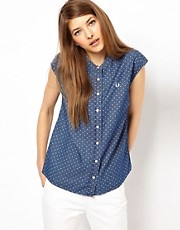 Fred Perry Polka Dot Grandad Collar Shirt
