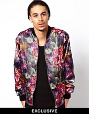 Reclaimed Vintage Floral Varsity Jacket