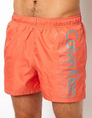 Calvin Klein Placement Logo Swim Shorts