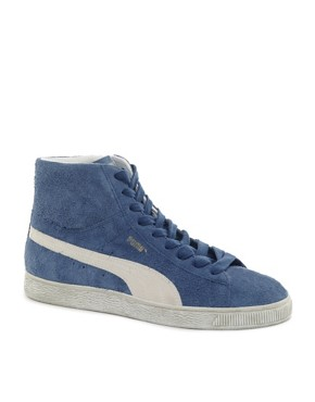 Image 1 ofPuma Suede Mid Trainers