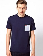 Fred Perry T-Shirt with Contrast Seersucker Pocket