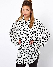 Glamorous Oversize Shirt In Shape Print