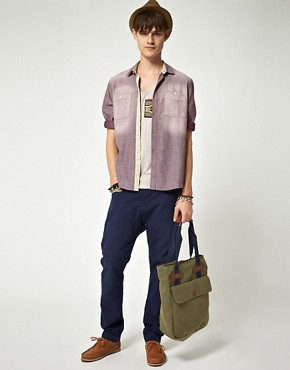 Image 4 ofASOS Tapered Canvas Chino