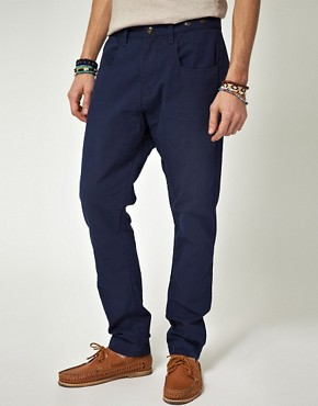 Image 1 ofASOS Tapered Canvas Chino