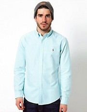 Polo Ralph Lauren Shirt in Slim Fit Oxford Cotton
