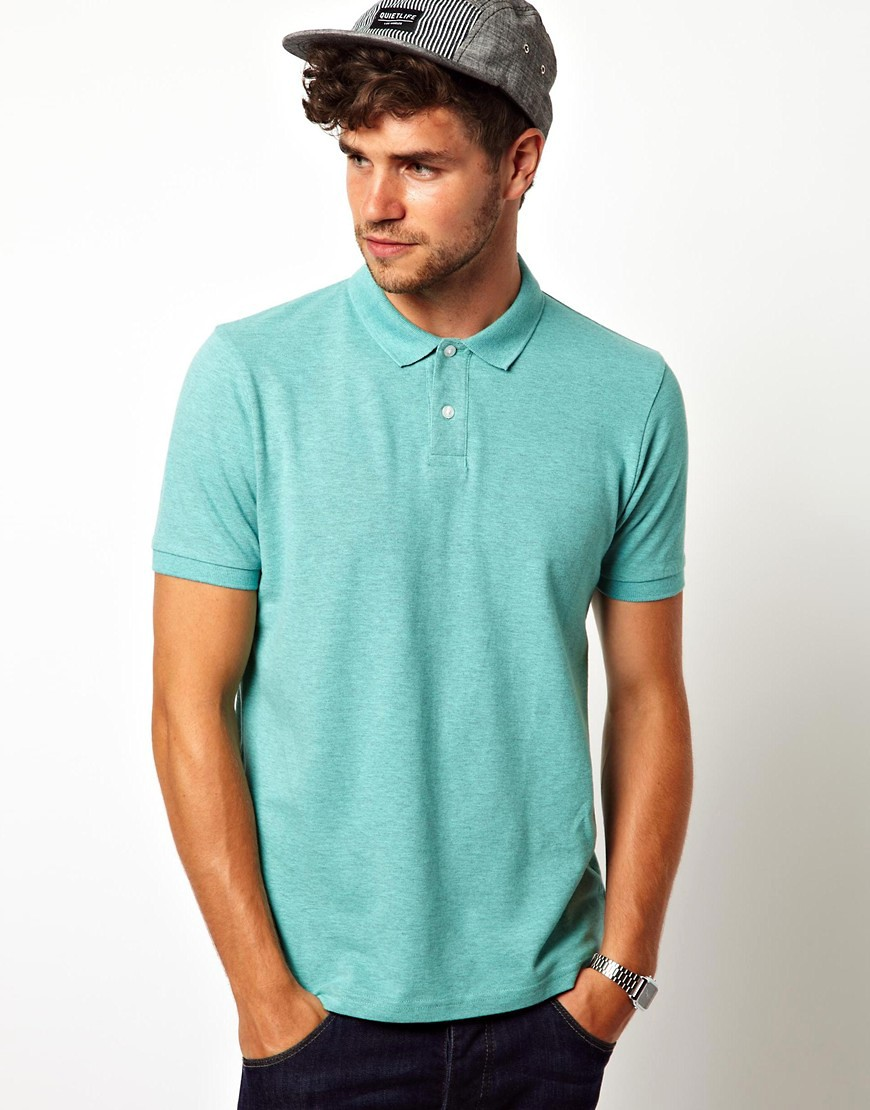 Image 1 of ASOS Polo In Pique Jersey