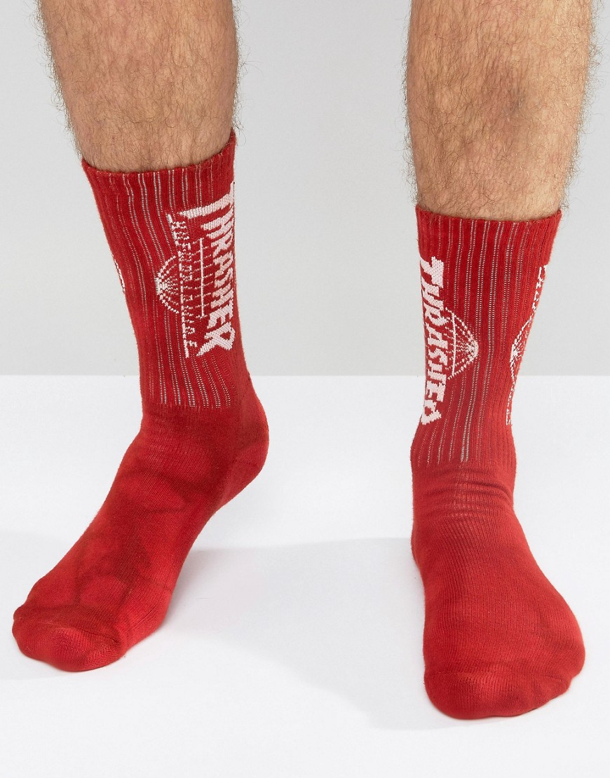 huf-x-thrasher-chaussettes-a-delavage-crystal-rouge