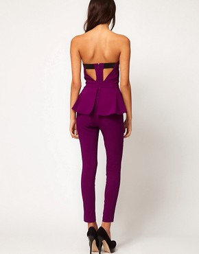 Image 2 ofASOS Peplum Frill Jumpsuit