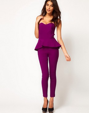 Image 4 ofASOS Peplum Frill Jumpsuit