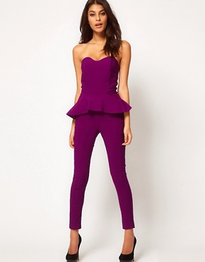 Image 1 ofASOS Peplum Frill Jumpsuit