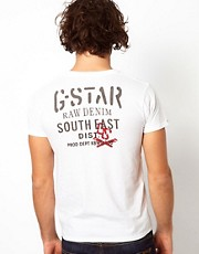 G Star T-Shirt Art Confederate Pocket Back Logo