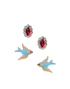 Image 1 ofASOS Bird Earring Pack