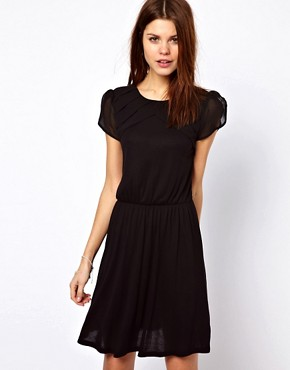 Image 1 ofWarehouse Pleat Yoke Mini Dress