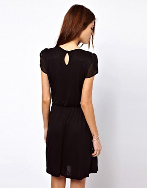 Image 2 ofWarehouse Pleat Yoke Mini Dress