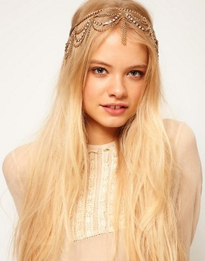 Image 1 ofASOS Hanging Crystal and Chain Hairband