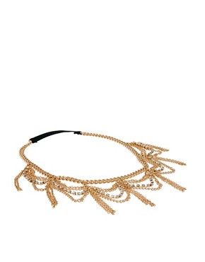 Image 2 ofASOS Hanging Crystal and Chain Hairband
