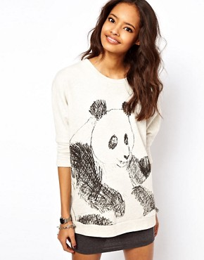 Image 1 of ASOS Jumper with Sketchy Panda