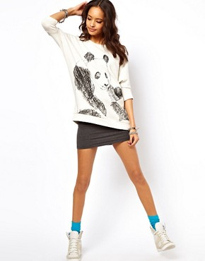 Image 4 of ASOS Jumper with Sketchy Panda