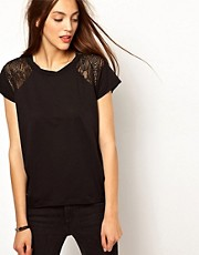 Whistles Abbie Lace Insert Bubble Top